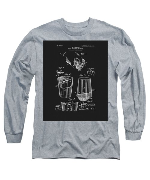 Cocktail Mixer Patent Long Sleeve T-Shirt