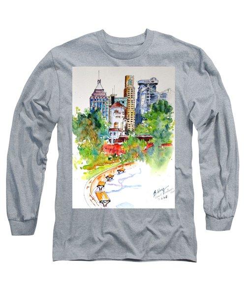 Colonial Vs The Modern In Hong Kong Long Sleeve T-Shirt