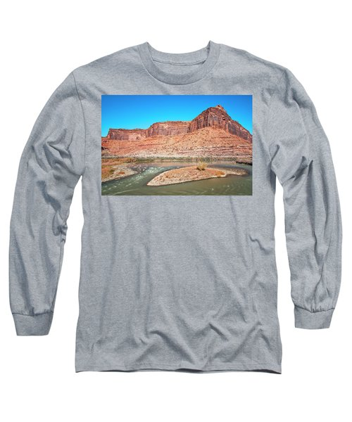 Long Sleeve T-Shirt featuring the photograph Colorado River At Salt Wash by Andy Crawford