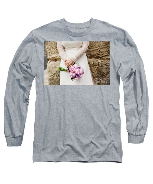 Colorful Bridal Bouquets With Flowers Long Sleeve T-Shirt