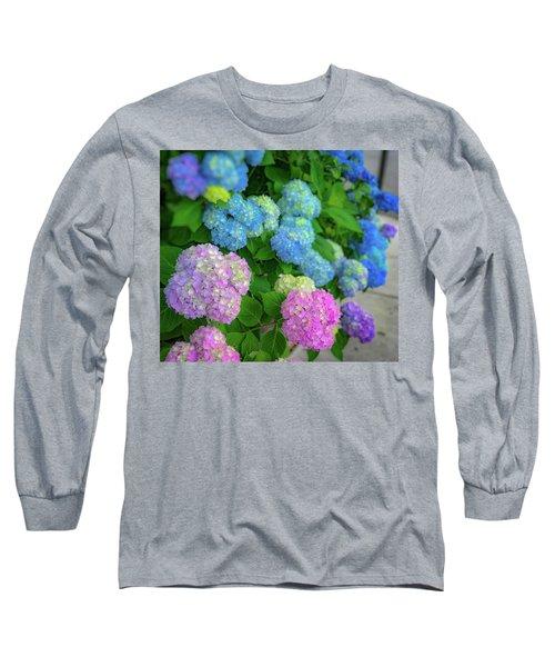 Colorful Hydrangeas Long Sleeve T-Shirt
