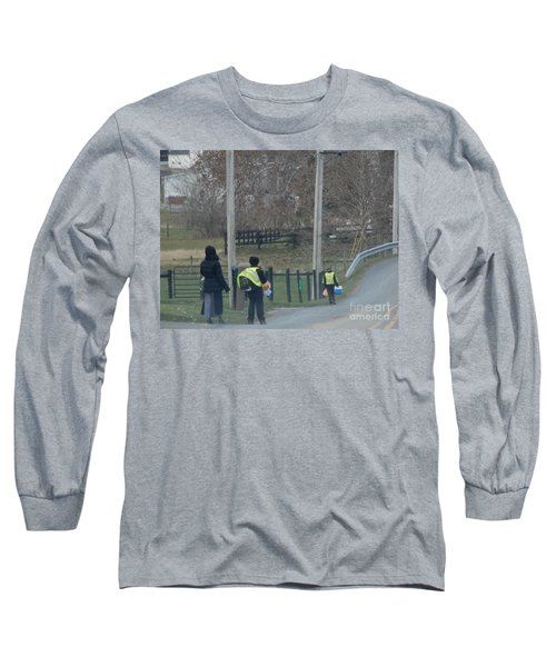 Coming Home From School Long Sleeve T-Shirt