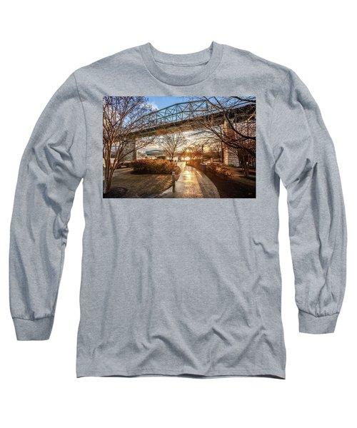 Coolidge Park Path At Sunset Long Sleeve T-Shirt