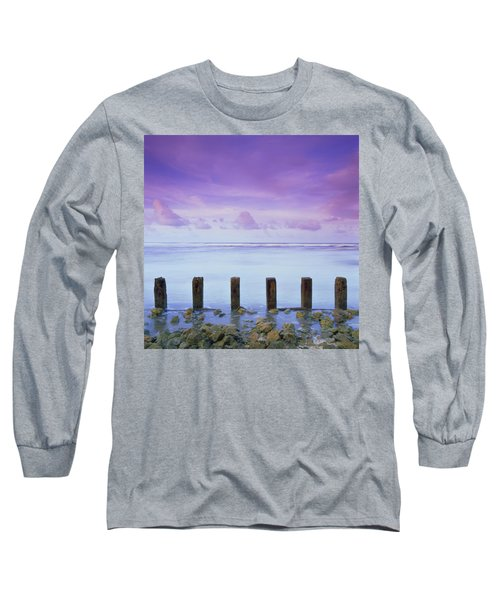 Cotton Candy Skies Over The Sea Long Sleeve T-Shirt