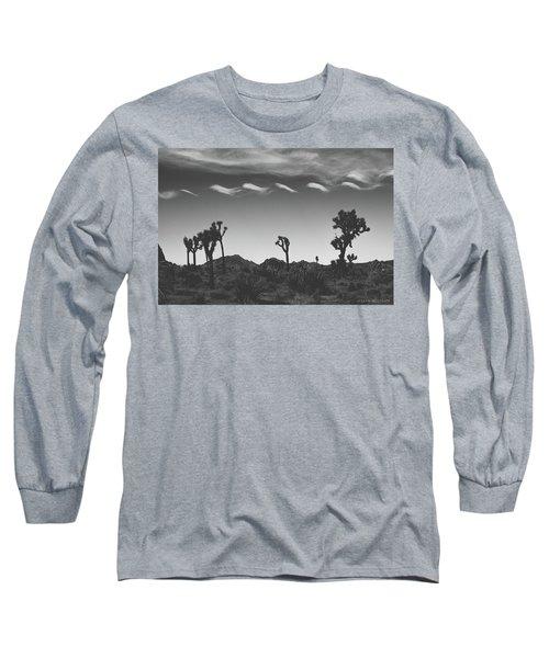Cotton Sky On Joshua Trees Long Sleeve T-Shirt