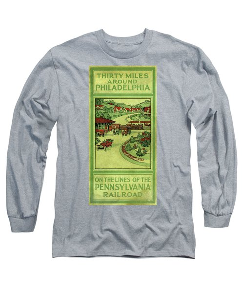 Cover Of Thirty Miles Around Philadelphia Long Sleeve T-Shirt
