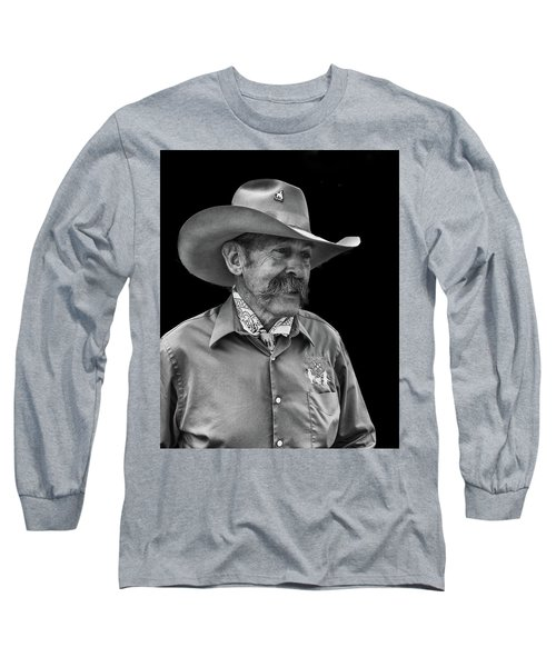 Long Sleeve T-Shirt featuring the photograph Cowboy by Jim Mathis