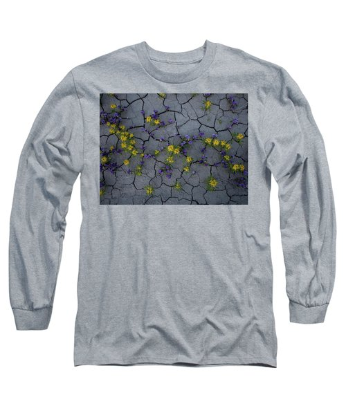 Cracked Blossoms Long Sleeve T-Shirt