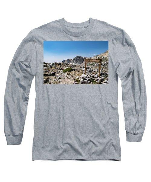 Crossroads At Medicine Bow Peak Long Sleeve T-Shirt