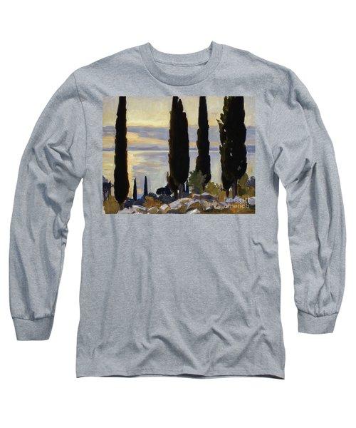 Cypress Trees At San Vigilio, 1913  Long Sleeve T-Shirt