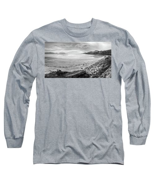 Dingle Peninsula Black And White Long Sleeve T-Shirt