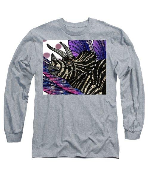 Dinosaur Triceratops Head Long Sleeve T-Shirt