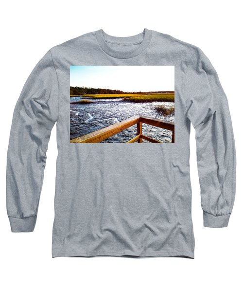 Long Sleeve T-Shirt featuring the photograph Dock Point by Robert Knight