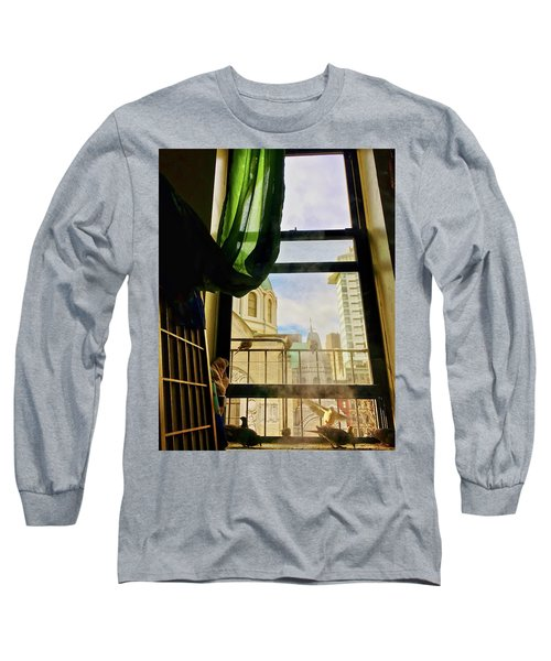 Doves In My Window Long Sleeve T-Shirt