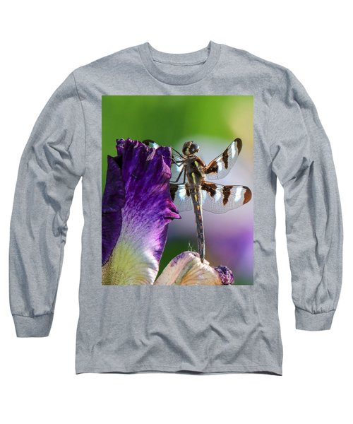 Dragonfly On Iris Long Sleeve T-Shirt
