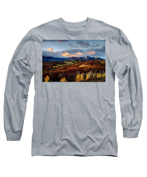 Dramatic Sunrise In The San Juan Mountains Of Colorado Long Sleeve T-Shirt