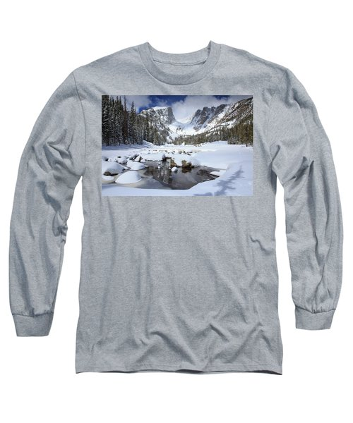 Dream Lake Winter Reflections  Long Sleeve T-Shirt