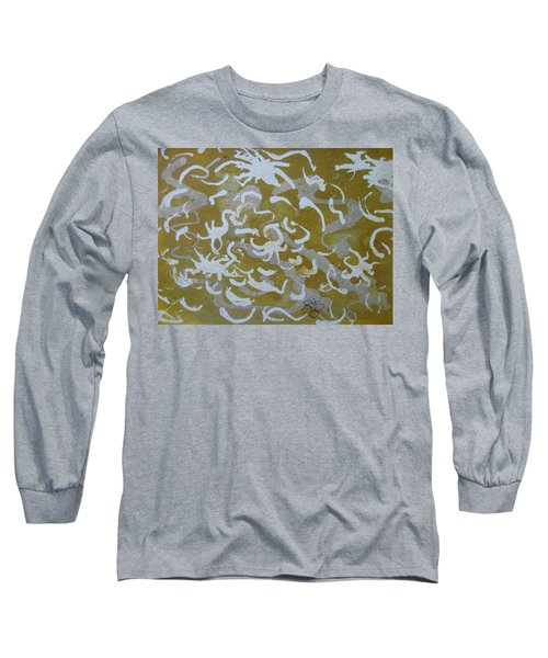 Dull Yellow With Masking Fluid Long Sleeve T-Shirt