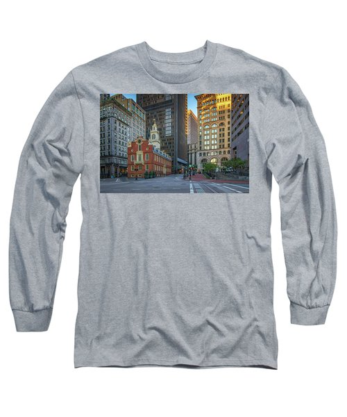 Early Morning At The Old Statehouse Long Sleeve T-Shirt