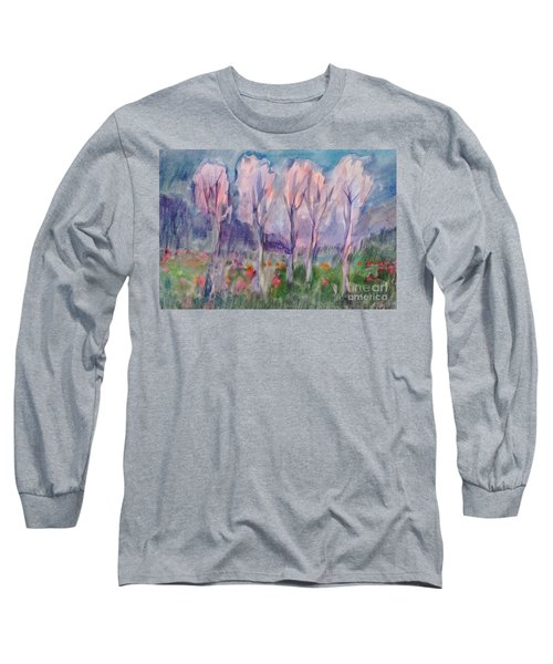 Early Morning In The Forest Long Sleeve T-Shirt