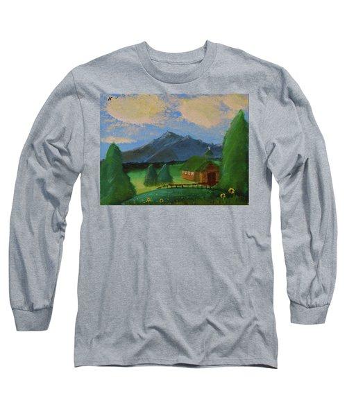 Esterbrook Chapel, Wyoming Long Sleeve T-Shirt