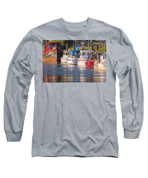 Evening At The Harbor Long Sleeve T-Shirt