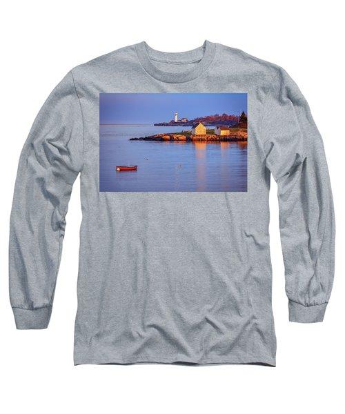 Evening Glow At Willard Beach Long Sleeve T-Shirt