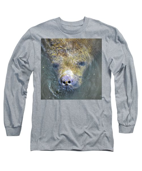Face Of The Manatee Long Sleeve T-Shirt