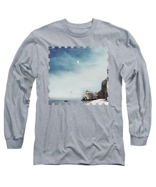Falaise D'amont - Etretat - France Long Sleeve T-Shirt