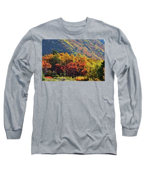 Fall Colors Along Avalanche Creek Road Long Sleeve T-Shirt