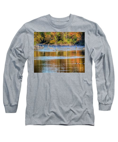 Fall Fishing Reflections Long Sleeve T-Shirt