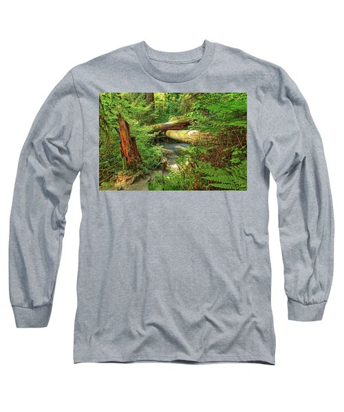 Fallen Trees In The Hoh Rain Forest Long Sleeve T-Shirt