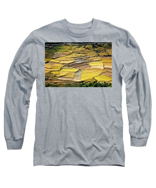 Long Sleeve T-Shirt featuring the photograph Fields Of Rice by Scott Kemper
