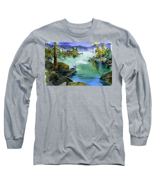 Fishing Lake Tahoe Long Sleeve T-Shirt