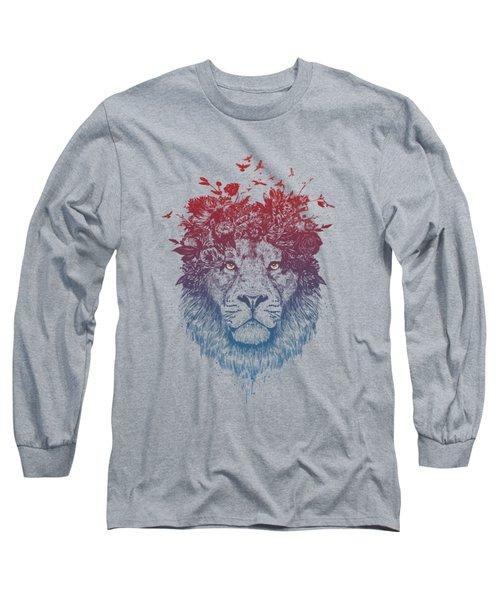 Floral Lion IIi Long Sleeve T-Shirt