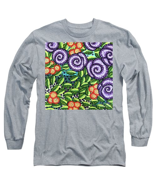 Floral Whimsy 11 Long Sleeve T-Shirt