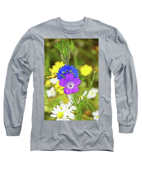 Flowers In The Meadow. Long Sleeve T-Shirt