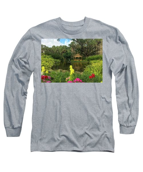 Flowers To Gazebo By The Lake Long Sleeve T-Shirt