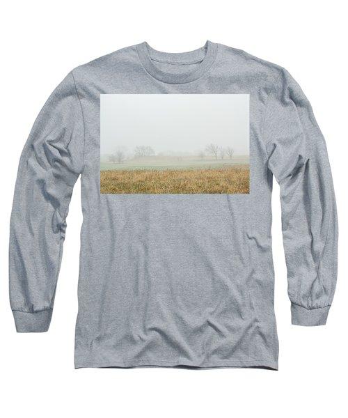 Foggy Country Morning Long Sleeve T-Shirt