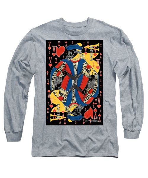 French Playing Card - Lahire, Valet De Coeur, Jack Of Hearts Pop Art - #2 Long Sleeve T-Shirt