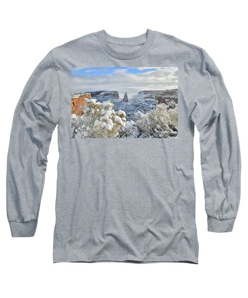 Fresh Snow At Independence Canyon Long Sleeve T-Shirt