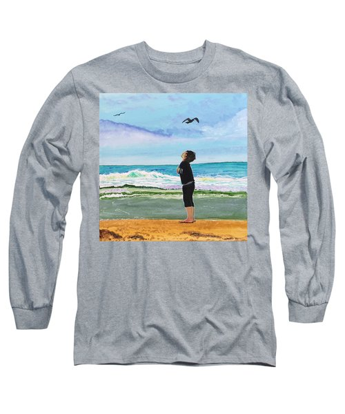 Gazing At Gulls Long Sleeve T-Shirt