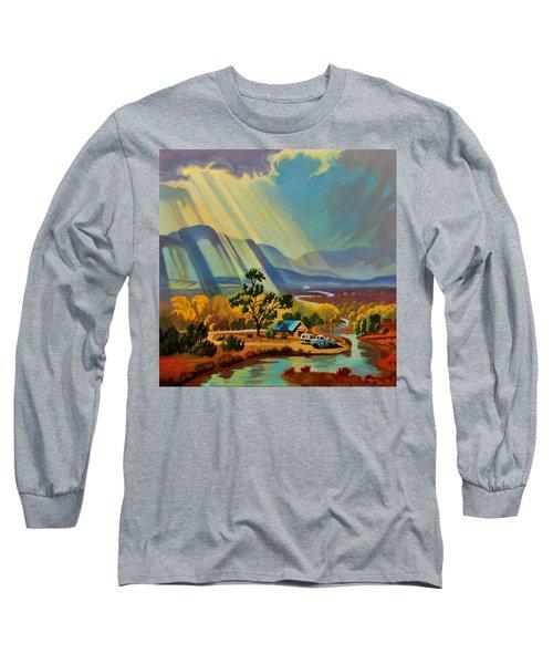 God Rays On A Blue Roof Long Sleeve T-Shirt