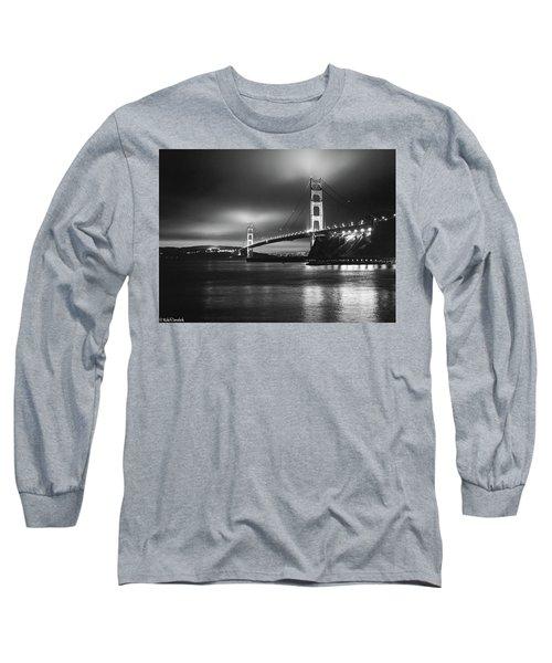 Golden Gate Bridge B/w Long Sleeve T-Shirt