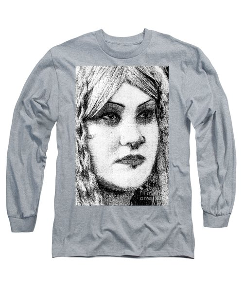 Goth Headshot Long Sleeve T-Shirt
