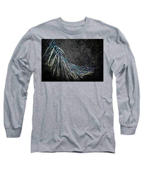 Graceful Frond In Blue Long Sleeve T-Shirt