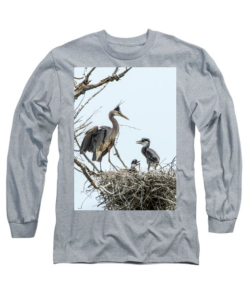 Great Blue Heron Rookery 1 Long Sleeve T-Shirt