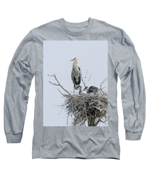 Great Blue Heron Rookery 3 Long Sleeve T-Shirt
