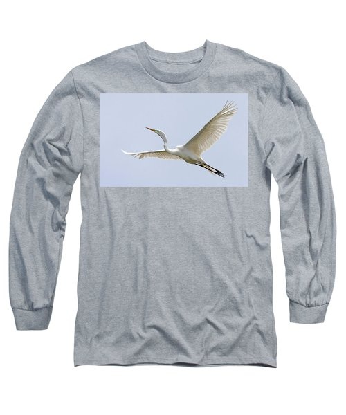 Great Egret 2 Long Sleeve T-Shirt