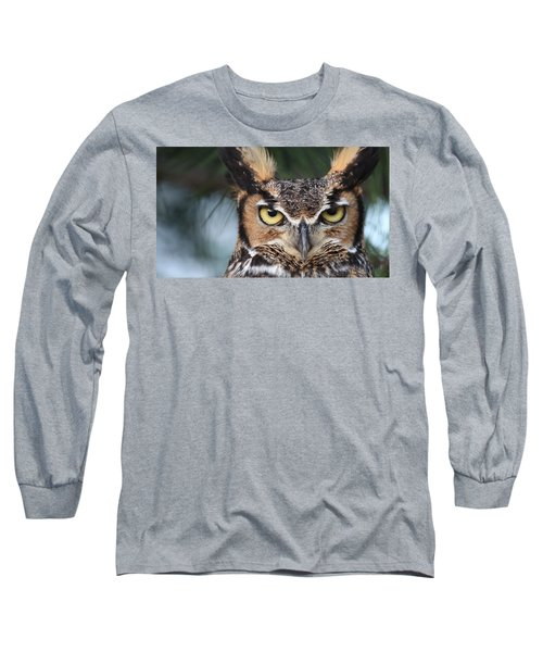 Great Horned Owl Eyes 51518 Long Sleeve T-Shirt